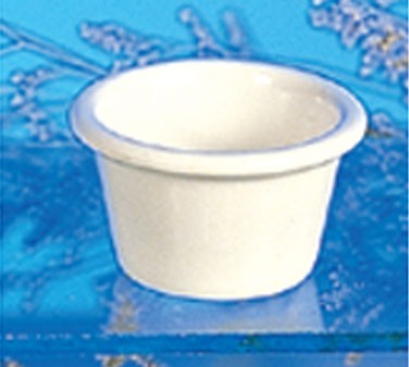 Bone Melamine 2 Oz. Smooth Ramekin - 2-1/2