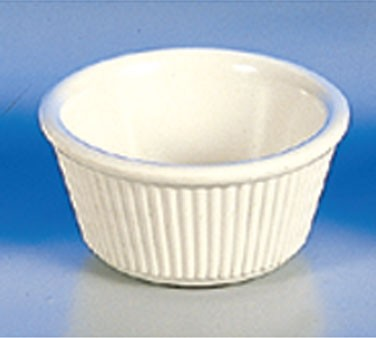 Thunder Group ML531B Bone White Melamine 3 oz. Fluted Ramekin 3-1/8""