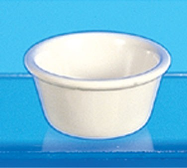 Bone Melamine 3 Oz. Smooth Ramekin - 3-1/8