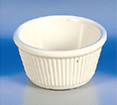Thunder Group ML532B Bone White Melamine 4 oz. Fluted Ramekin 3-3/8""