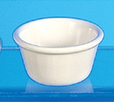 Bone Melamine 4 Oz. Smooth Ramekin - 3-3/8
