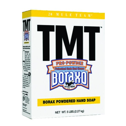 Boraxo TMT Powdered Hand Soap, Unscented Powder, 5lb Box, 10/Carton