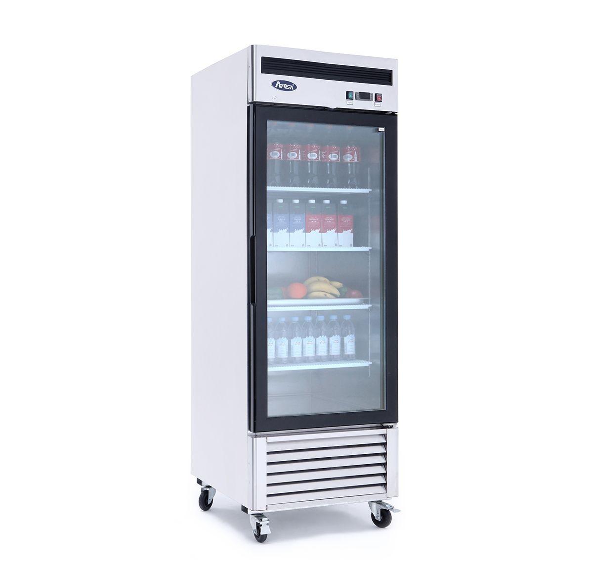 Atosa MCF8705GR Bottom Mount One Glass Door Refrigerator