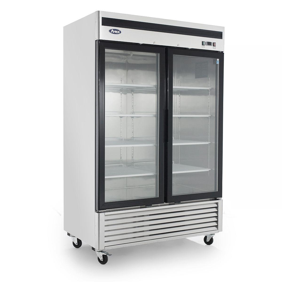 Bottom Mount (2) Two Glass Door Freezer