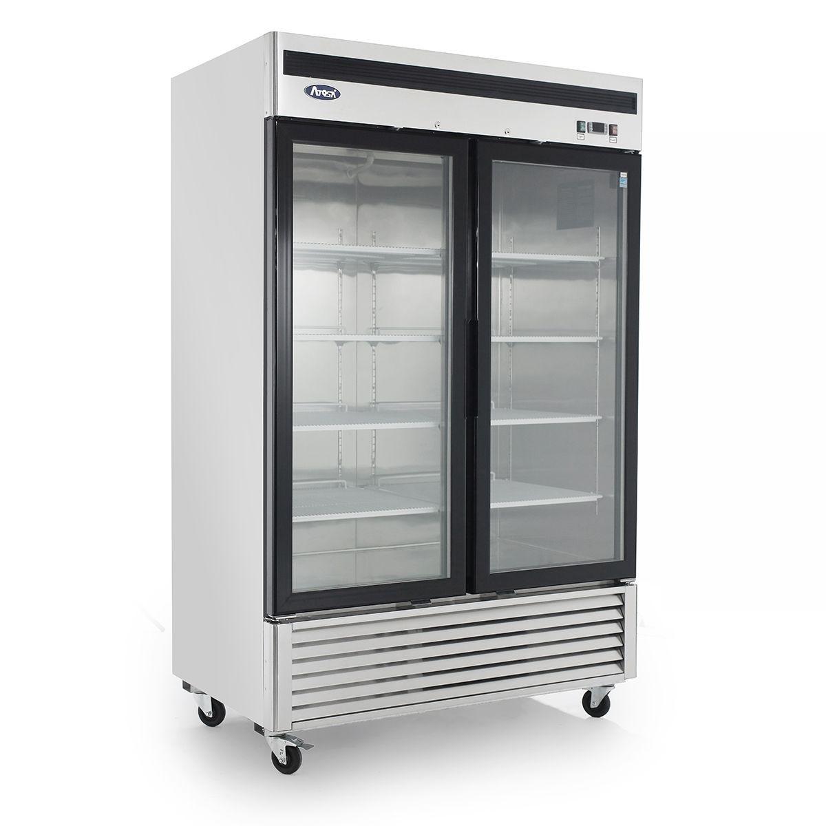 Bottom Mount (2) Two Glass Door Refrigerator