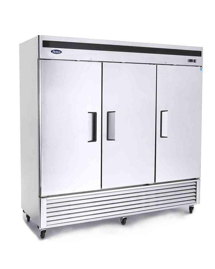 Atosa MBF8508GR Bottom Mount Three Door Reach-In Refrigerator