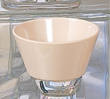 Thunder Group NS302T Nustone Tan Melamine Bouillon Cup 8 oz., 3-3/4""