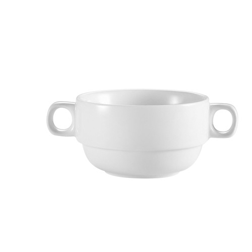 CAC China RCN-49 Clinton Rolled Edge Bouillon with Handle 12 oz.