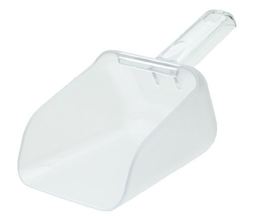 Bouncer Contour Scoop, 32 Oz, Polycarbonate, Clear