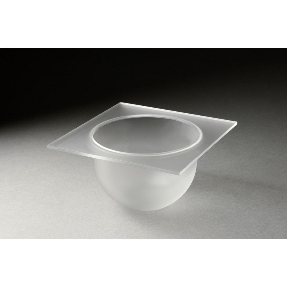 "Rosseto SBT1494 4"" Frosted Acrylic Round Mod Pod Bowl Tray"
