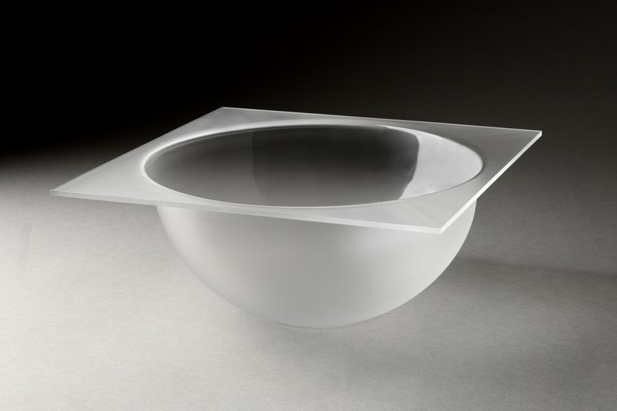 Rosseto LBT1357 6.3 Qt. Large Frosted Bowl Tray for Mod Pod