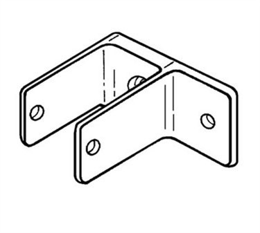 Franklin Machine Products  141-1105 Bracket, One Eared (Partition )
