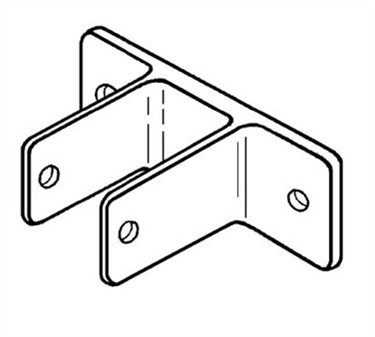 Franklin Machine Products  141-1104 Bracket, Two Eared (Partition )