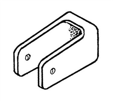 Franklin Machine Products  141-1106 Bracket, U (Partition )