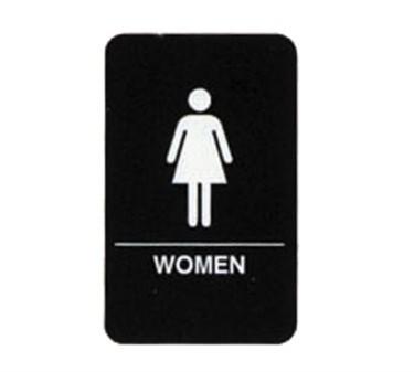 """TableCraft 695634 Women Braille Sign, White-On-Black 6"""" x 9"""""""