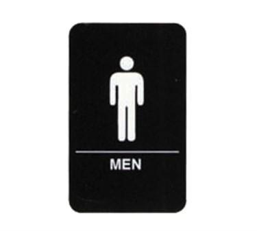 """TableCraft 695635 Men Braille Sign, White-On-Black 6"""" x 9"""""""