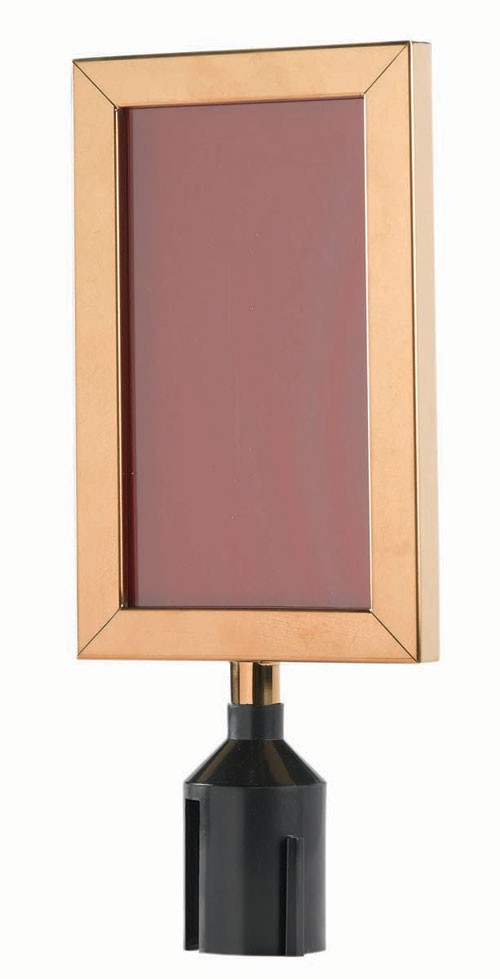"Aarco Products VSF118B Form-A-Line Vertical Sign Frame, Brass 11-1/8""H x 8-5/8""W"