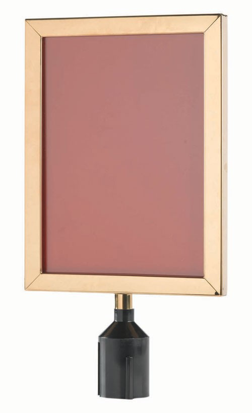 """Aarco Products VSF1411B Form-A-Line Vertical Sign Frame, Brass 14-1/8""""H x 11-1/8""""W"""