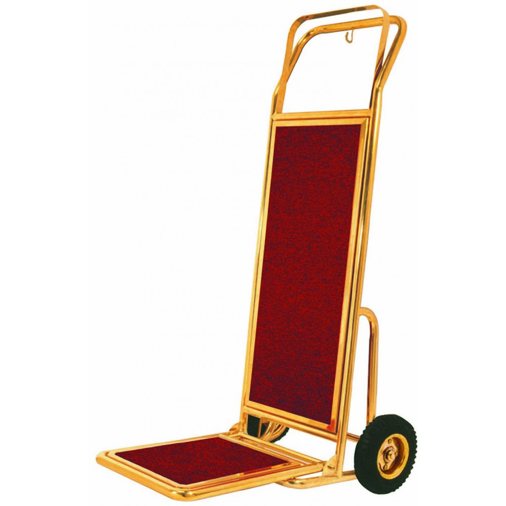 Aarco Products HT-2B Bellman's Luggage Hand Truck, Brass Finish