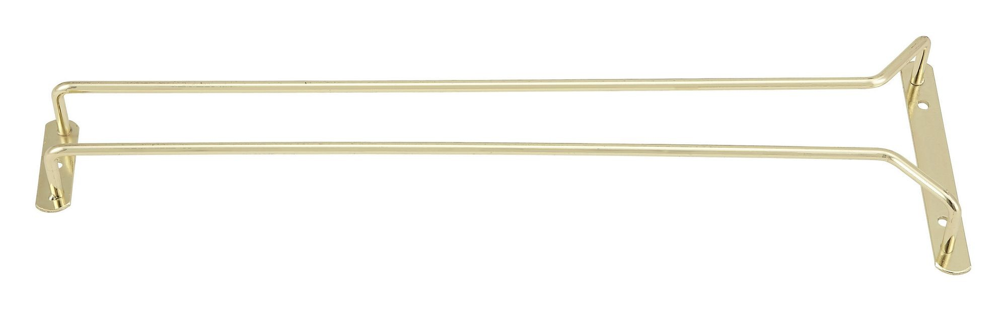 Winco GH-16 Brass Plated Wire Glass Hanger Rack 16""