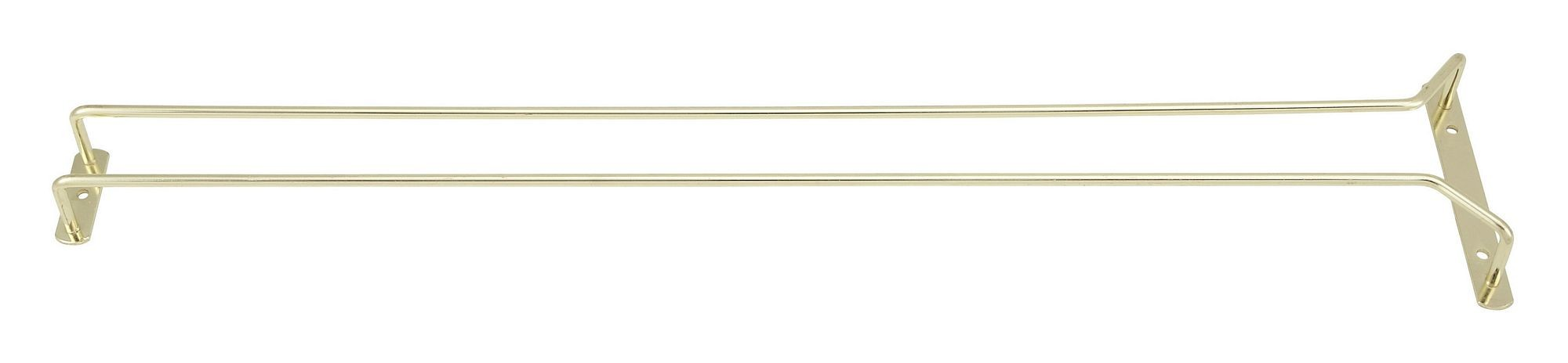 Winco GH-24 Brass Plated Wire Glass Hanger Rack 24""