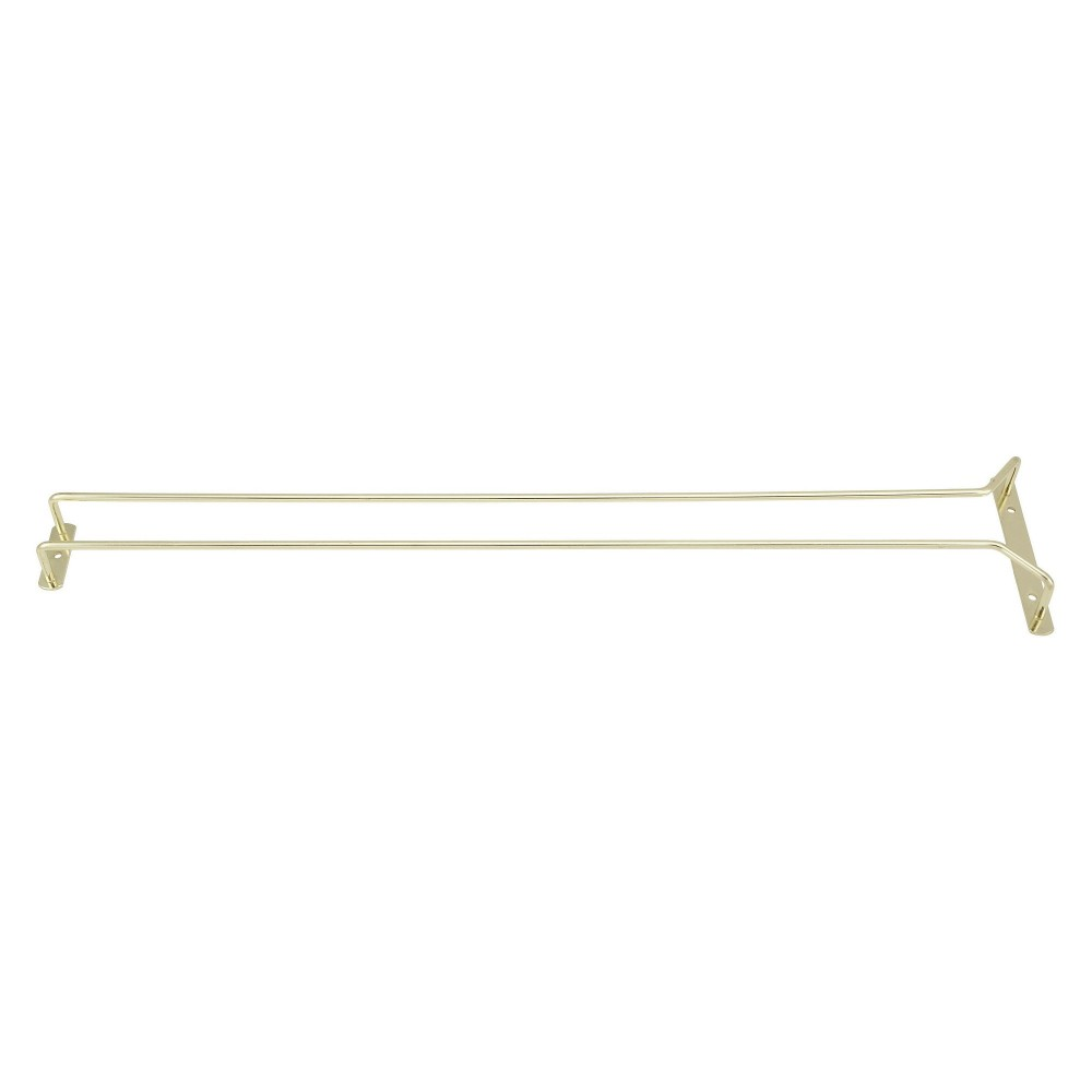 Brass Plated Wire Glass Hanger Rack- 24
