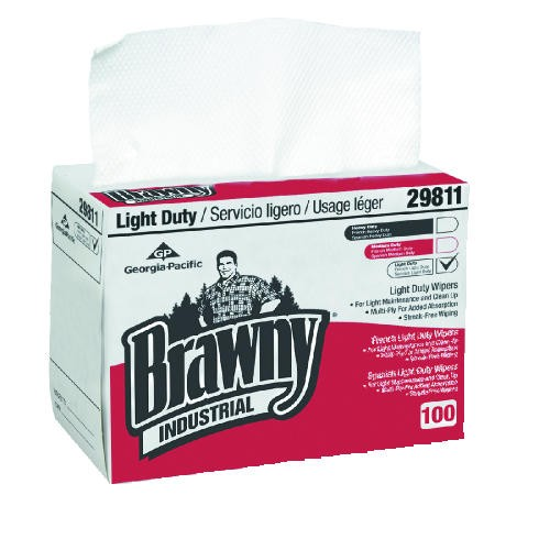 Brawny Individual Light Paper, 2-Ply Wipes Box, 8 X 12.5, White