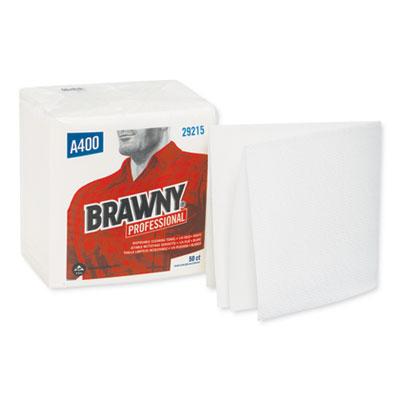Brawny Industrial Medium Duty Airlaid 1/4-Fold Wipers, 13