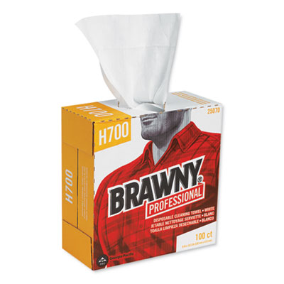 "Brawny Professional Medium Weight HEF Shop Towels, 16-1/2"" x 9-1/10"", 5 Boxes/Carton"