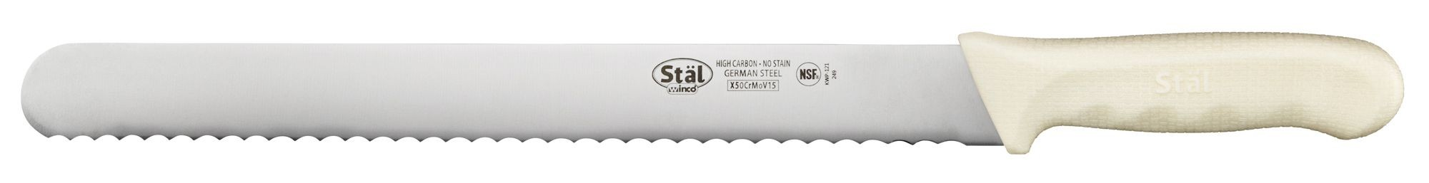 Winco KWP-121 Bread Knife with Straight Edge 12""
