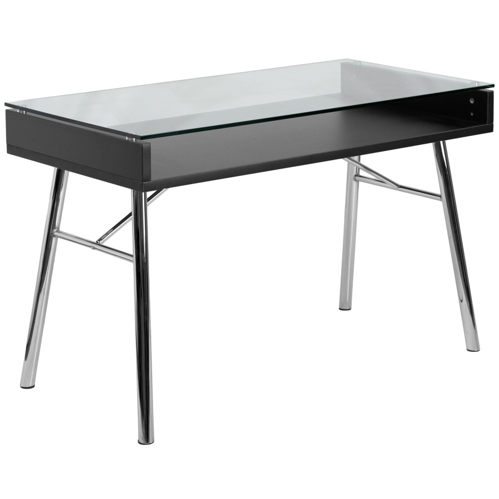 Flash Furniture NAN-JN-2966-GG Brettford Desk with Tempered Glass Top