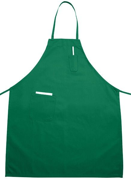 Winco BA-PLG Bright Green Full Length Bib Apron with Pocket