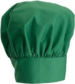"""Winco CH-13LG Bright Green Professional Chef Hat, 13"""""""