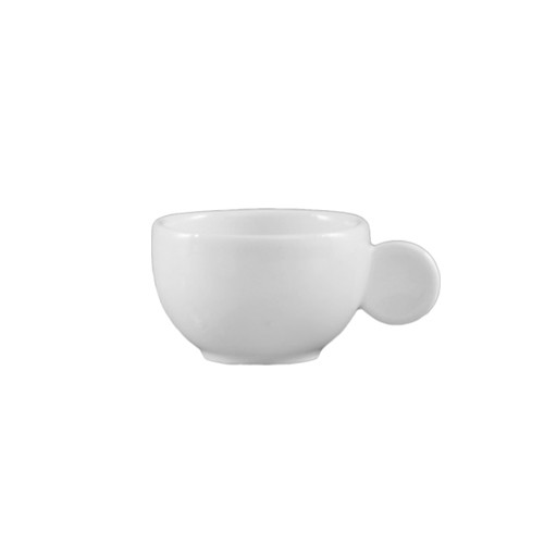 CAC China RCN-37A Clinton Rolled Edge Cup with Moon Handle 3 oz.