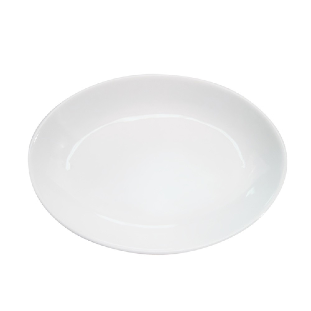 Bright White Clinton Oval Deep Platter 15.5