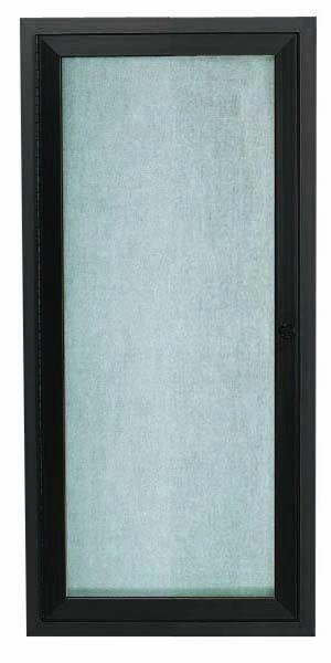 """Aarco Products ODCC2412RBA Bronze Outdoor Enclosed Aluminum Bulletin Board- 24""""H x12""""W."""