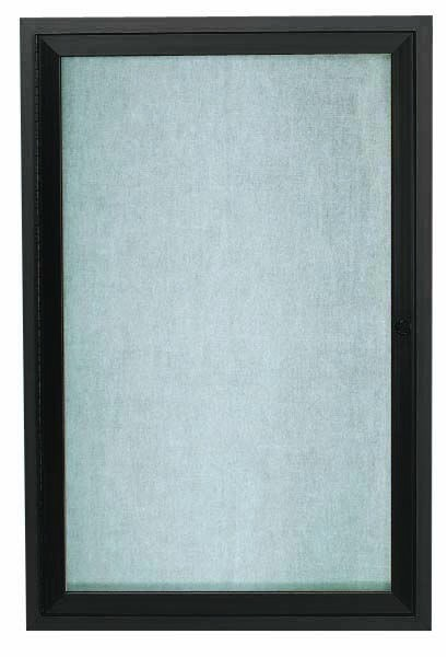 """Aarco Products ODCC2418RBA Bronze Outdoor Enclosed Aluminum Bulletin Board- 24""""H x18""""W"""