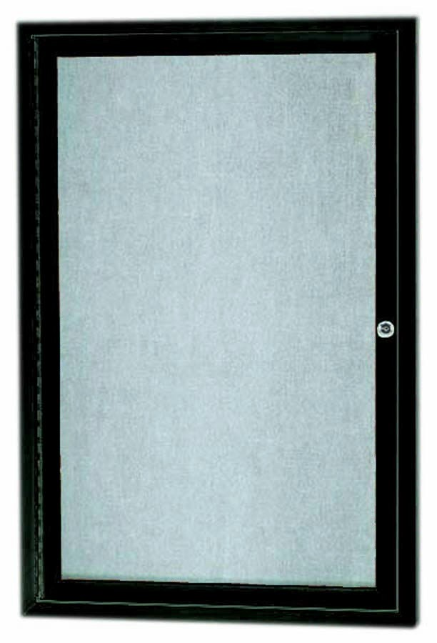 """Aarco Products ODCC3624RBA Bronze Outdoor Enclosed Aluminum Bulletin Board- 36""""H x 24""""W"""
