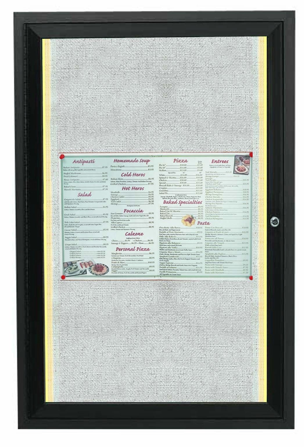 """Aarco Products LODCC2418RBA 1 Door Outdoor Aluminum Framed Enclosed Bulletin Board with LED Lighting and Bronze Anodized Finish, 24""""H x 18""""W"""