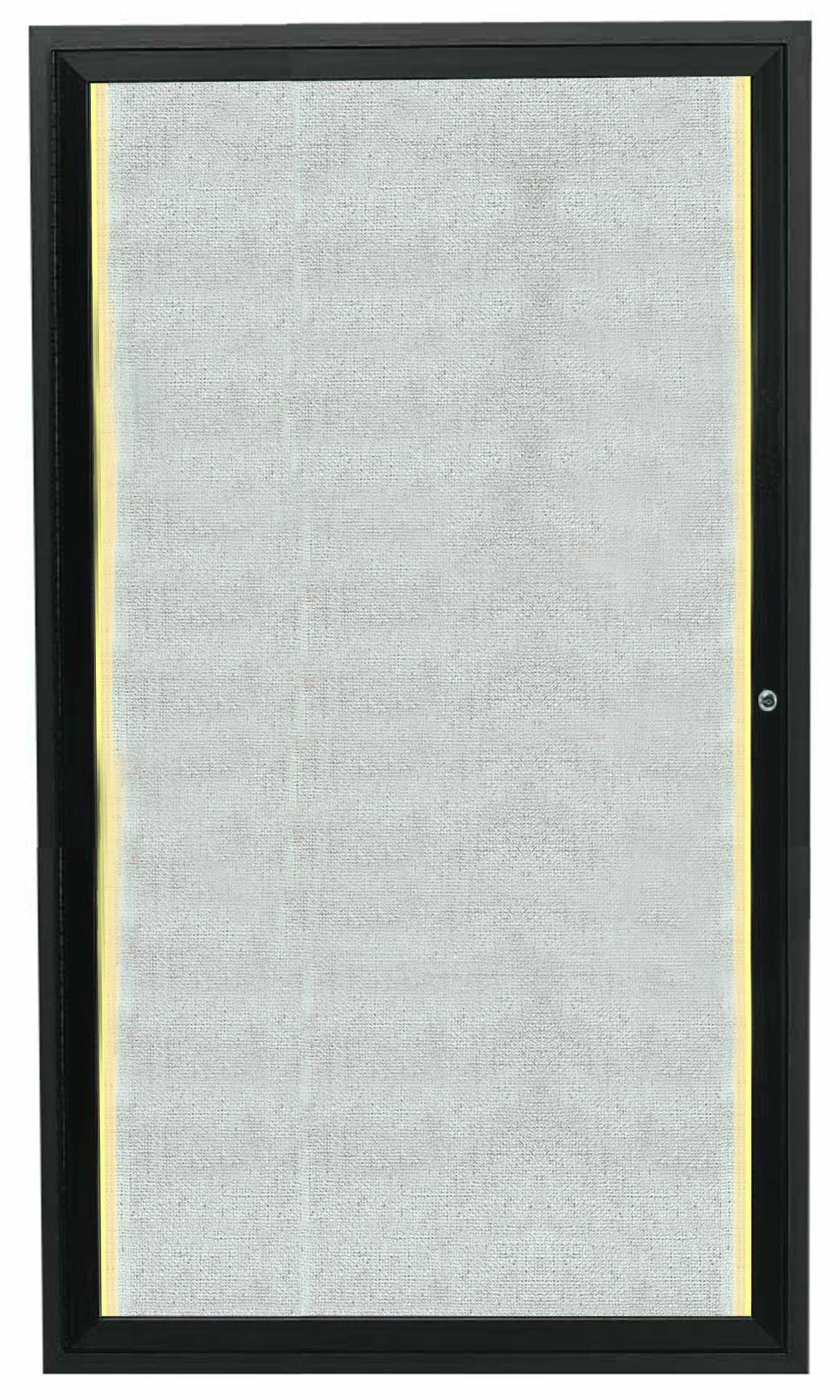 "Aarco Products LODCC3624RBA 1 Door Outdoor Aluminum Framed Enclosed Bulletin Board with LED Lighting and Bronze Anodized Finish, 36""H x 24""W"