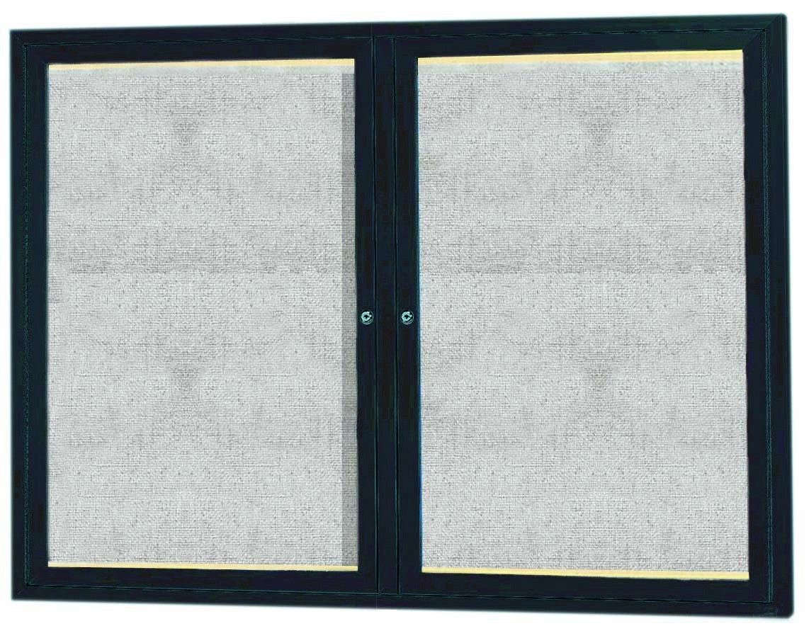 "Aarco Products LODCC3648RBA 1 Door Outdoor Aluminum Framed Enclosed Bulletin Board with LED Lighting and Bronze Anodized Finish, 36""H x 48""W"