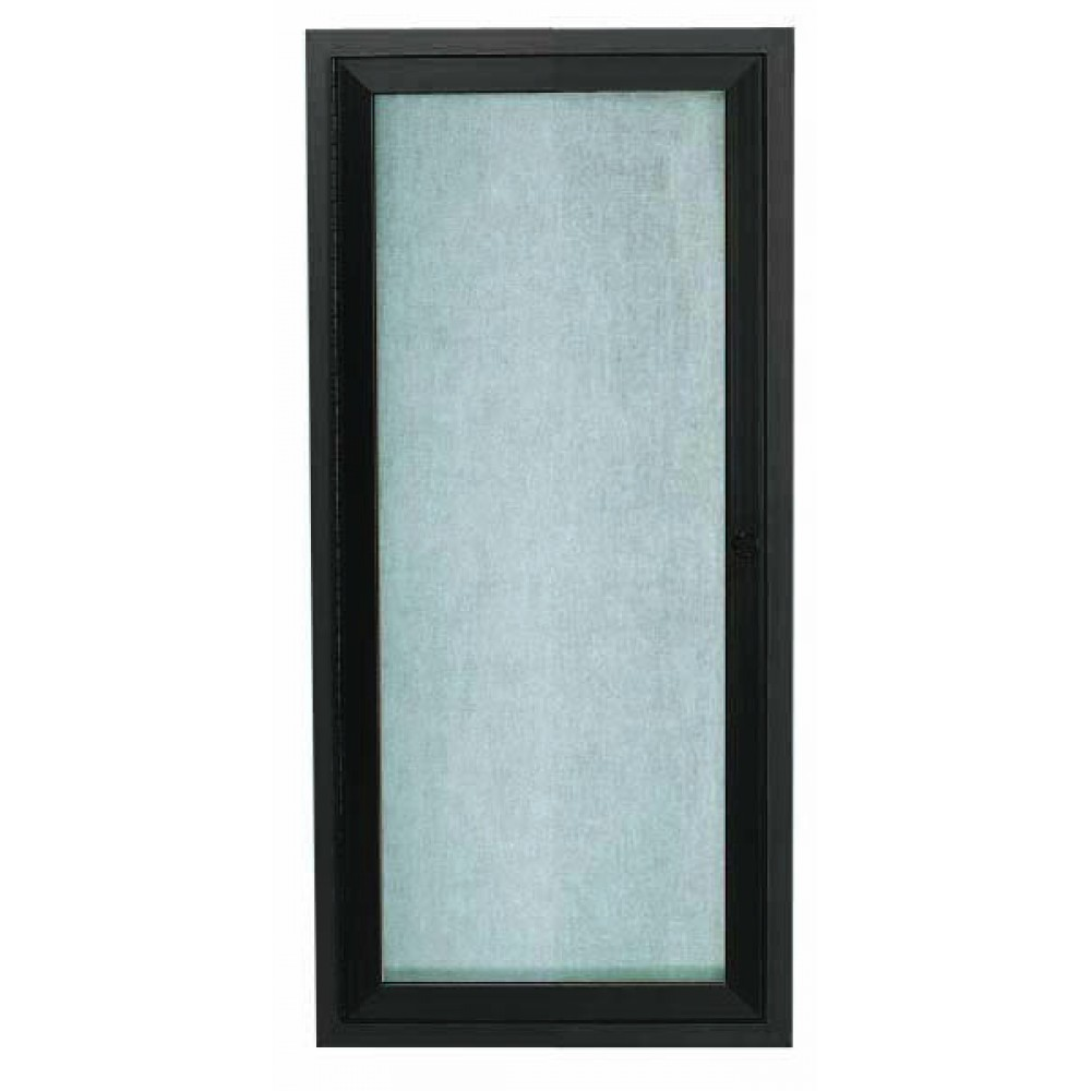 "Aarco Products ODCC2412RBA Bronze Outdoor Enclosed Aluminum Bulletin Board- 24""H x12""W."