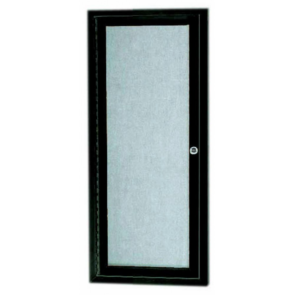 "Aarco Products ODCC3612RBA Bronze Outdoor Enclosed Aluminum Bulletin Board, 36""H x12""W"