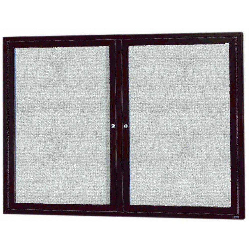 "Aarco Products ODCC3648RBA Bronze Outdoor Enclosed Aluminum Bulletin Board-36""H x 48""W"