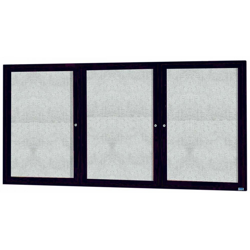 "Aarco Products ODCC3672-3RBA Bronze Outdoor Enclosed Aluminum Bulletin Board-36""H x 72""W"