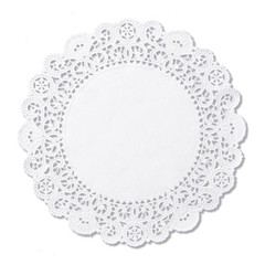 Brooklace Lace Doilies, Round, 4