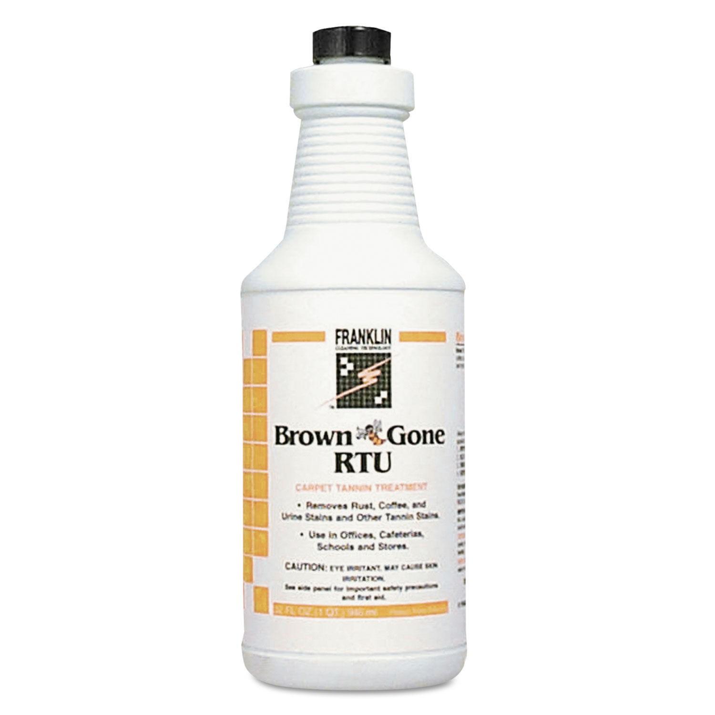 Brown 'Bee' Gone RTU Carpet Tannin Treatment, Liquid, 1 qt. Flip-Top Bottle