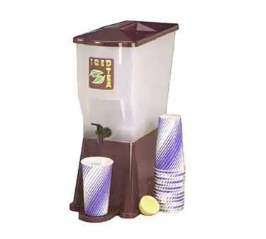 TableCraft 354dph Brown 3 Gallon Slimline Beverage Dispenser with Fast Flow Faucet