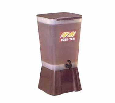 TableCraft 1054 5 Gallon Brown Plastic Beverage Dispenser