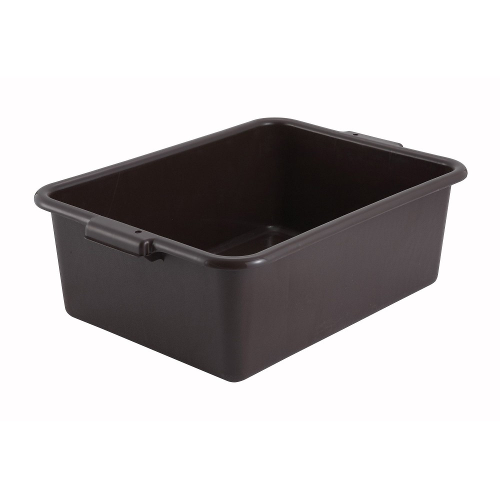 Brown Dish Box - 20-1/4 x 15-1/2 x 7